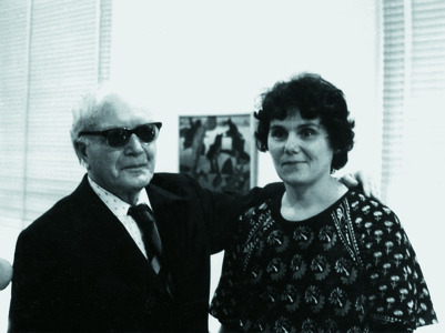 With painter Ferenc Martyn